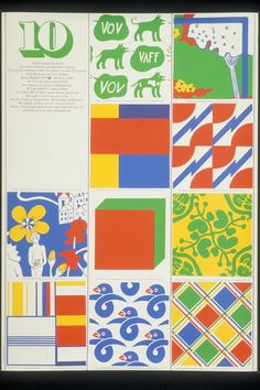 Poster presenting 10-gruppens patterns 1972.