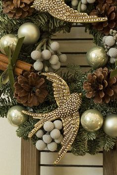 2 turtle doves - have the 12 days all over your house. Handmade Christmas wreaths are the best. Find inspiration at Hobbycraft #christmas #wreaths #christmaswreaths