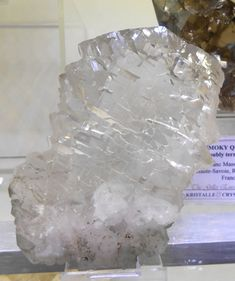 "A near water clear, colourless ""Gwindel"" Quartz from Glacier des Grands, Le Trient Valley, Valais, Switzerland."