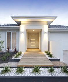 Modern Home Entrance, Modern Walkway Walkway and Path Landscaping Network Calimesa, CA