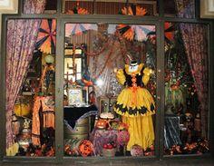 disney halloween window display