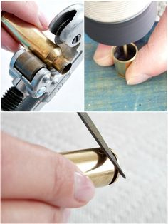 Fascinating Jewelry Making Craft Diy Bullet Necklace · 410 Gone Bullet Casing Crafts, Bullet Casing Jewelry, Bullet Crafts, Bullet Necklace, Bullet Shell Jewelry, Ammo Jewelry, Jewelry Tools, Metal Jewelry, Jewelry Crafts