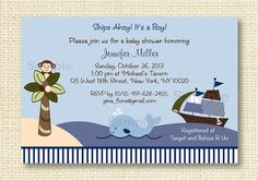 Ahoy Mate Baby Shower Invitation EDITABLE by LittlePrintsParties, $10.00
