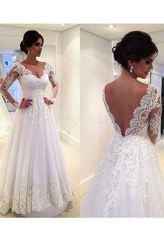 Robe de mariée trapèze en tulle dos nu en satin