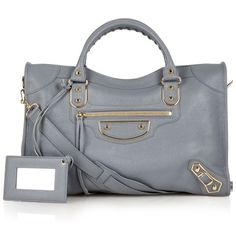 Balenciaga Classic City metallic-edge leather tote (2,568,795 KRW) ❤ liked on Polyvore featuring bags, handbags, tote bags, metallic tote, leather tote, genuine leather tote, leather handbags and metallic leather tote