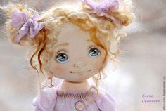 Купить Поля - бледно-сиреневый, коллекционная кукла, авторская ручная работа, авторская игрушка