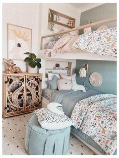 Big Girl Bedrooms, Girls Bedroom, Girl Toddler Bedroom, Childrens Bedrooms Shared, Ikea Girls Room, Modern Girls Rooms, Blue Girls Rooms, Decorating Toddler Girls Room, Bedroom Ideas