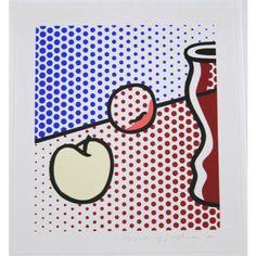 Roy Lichtenstein. Still life with red Jar. (Corlett 291).  www.fluegel-roncak.com