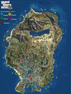 Grand Theft Auto 5 full detail map