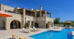 Kalives Orchard Villa Ekaterine - Authentic Crete, Villas in Crete, Holiday Specialists Crete Chania, Villas, Bedrooms, Mansions, House Styles, Holiday, Vacations, Bed Room, Villa
