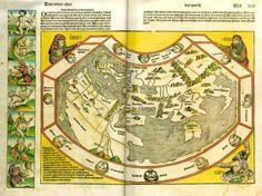 Schedel weltkarte - Las Crónicas de Núremberg - Wikipedia, la enciclopedia libre