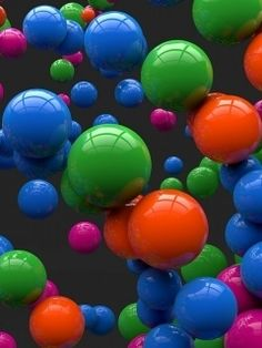 3D Colorful Spheres Wallpaper for HTC Phones