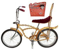 Eddie Munster's Bicycle designed by George Barris... Built by Skip Barrett and Von Dutch.