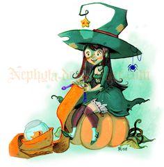 Три возраста ведьмы: Дева ( совсем маленькая)) - То же неделание, только в профиль