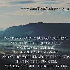 """Content marketing is key to business success these days.   However, it takes some """"balls"""" to put regular content out there. I always used to be too scared.  But I one day took the plunge and never looked back.  And if anyone doesn't like my stuff?  Quite simply, fuck 'em."""