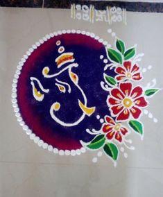 Here are some rangoli photo and designs for every occasion. Make these rangoli designs during festivals like Diwali, Dussehra, Sankranti, Holi or New Year. Indian Rangoli Designs, Rangoli Designs Latest, Simple Rangoli Designs Images, Rangoli Designs Flower, Rangoli Border Designs, Rangoli Patterns, Colorful Rangoli Designs, Rangoli Ideas, Flower Rangoli