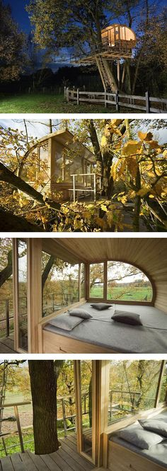 cabaña3, TREE HOUSE MANUFACTURED  The German architect Andreas Wenning , has built and spread its unique housing concept in the tree (Baumhauser) worldwide.