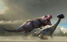 Tyrannasoures & Ankylosaurus