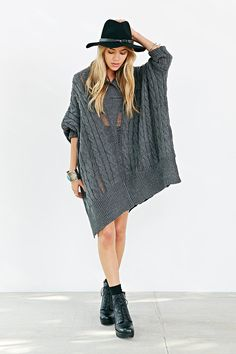 Ecote Wilderness Poncho - Urban Outfitters