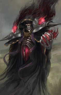 The Overlord - By me (i.it) submitted by ariirf to /r/ImaginaryMonsters 2 c. The Overlord - B Dark Fantasy Art, Fantasy Character Design, Character Art, Anime Negra, Grim Reaper Art, Demon Art, Animes Wallpapers, Anime Comics, Fantasy Characters