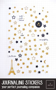 Journaling stickers are great tools to make your mark and express yourself creatively. Decorate for any occasion and customize it with your text or photo!