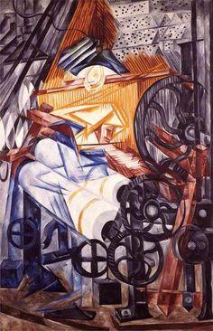 Natalia Goncharova. The Weaver