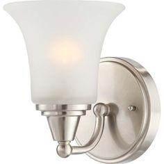 �Surrey Brushed Nickel Bathroom Vanity Light Lowe's $57.36