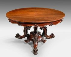 "Victorian Period Mahogany Centre Table (c. 1850 to c. 1860 England) 30""H x 53.5""Diam."