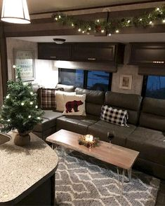 Brilliant Picture of Wonderful RV Camping Living Decor Remodel Makeover And Become Happy Campers Lifestyle - Lifestyle & Interior Design Trends Rv Travel Trailers, Camper Trailers, Travel Trailer Decor, Travel Trailer Living, Travel Trailer Remodel, Truck Camper, Small Travel Trailer, Small Rv Trailers, Camper Van
