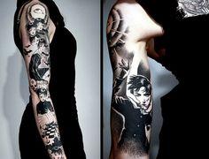 Maruo Sleeve – Still in Progress - 50  Cool Sleeve Tattoo Designs  <3 <3