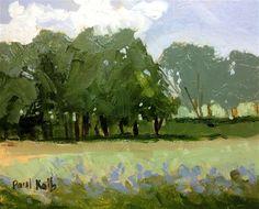 "Daily Paintworks - ""Tree Rows"" - Original Fine Art for Sale - © Linda Blondheim"