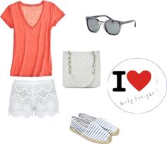 Lace Shorts Outfit, created by rodysis on Polyvore