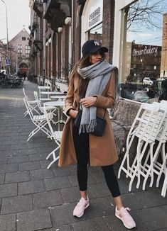 Classic camel coat with trendy casual outfit. Classic camel coat with trendy casual outfit. Classic camel coat with trendy casual outfit. The post Classic camel coat with trendy casual outfit. appeared first on New Ideas. Winter Fashion Outfits, Fall Winter Outfits, Autumn Winter Fashion, Winter Ootd, Winter Dresses, Winter Scarf Outfit, New York Winter Outfit, Winter Travel Outfit, Dress Winter