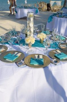 Turquoise is not only one of the best colors, refreshing and awakening, it's perfect for a beach wedding! We've already told you about blue beach weddings but I think that turquoise is worth mentioning separately. Turquoise bridesmaids' dresses...