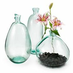 chelsea vases made from 100% recycled glass