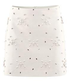 Embroidered Bead and Rhinestone Skirt - HM