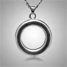 The Circle of Life Keepsake Pendant is made from sterling silver and is a wonderful cremation ash pendant. The pendant will keep your loved one close to your heart forever. This Keepsake Pendant holds a small amount of the ashes, a piece of hair or anything small enough to memorialize your loved one and keep them close and with you at all times.
