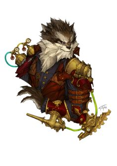 Steampunk werewolf