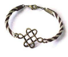 Kumihimo braid Celtic knot bracelet
