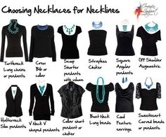 Choosing Necklaces for Necklines....necessary pin! So Handy for morning outfits.