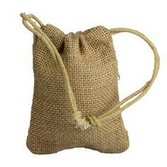 24 Burlap Favor Bag with Drawstring Set 3x5