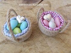 Minyatür bebek şekeri sepetleri