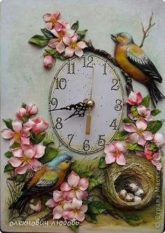 Поделка изделие Лепка Цветочные часы  2 Пластика Тесто соленое фото 1
