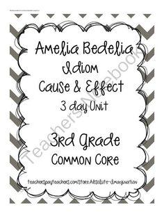Amelia Bedelia Printables | Idioms – word lists, worksheets ...