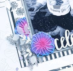 Stampin' Up! Oh So Eclectic Scrapbook Page 1st Birthday