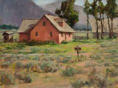 """Homestead at Antelope Flats"", Montana - oil painting"