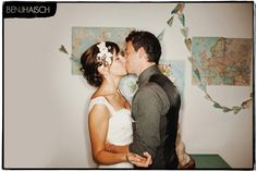 ADORE that map paper airplane garland in the background - must do!