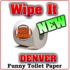 1 New Roll Denver Football Sports Funny Gag Prank Party Joke Toilet Paper