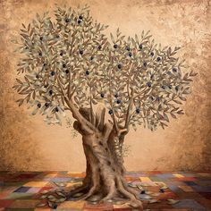 The Olive Tree is a painting by Barbara Gerodimou
