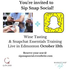 Snapchat!! OMG! LUV it!  I get asked so often about this Social Media network. It's cool fun and allows for very authentic interactions. It can build your brand personality and give new and future customers an inside look into your business like never before.    Curious about SNAPCHAT for your business? I am hosting LIVE Snapchat Training here in Edmonton on October 13th. Space is extremely limited so if you are interested in joining us reserve your seats ASAP! Details at…